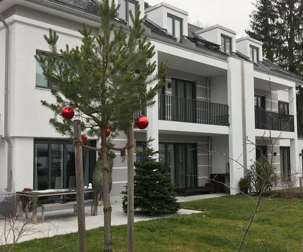 Neubau von vier Doppelhaushälften